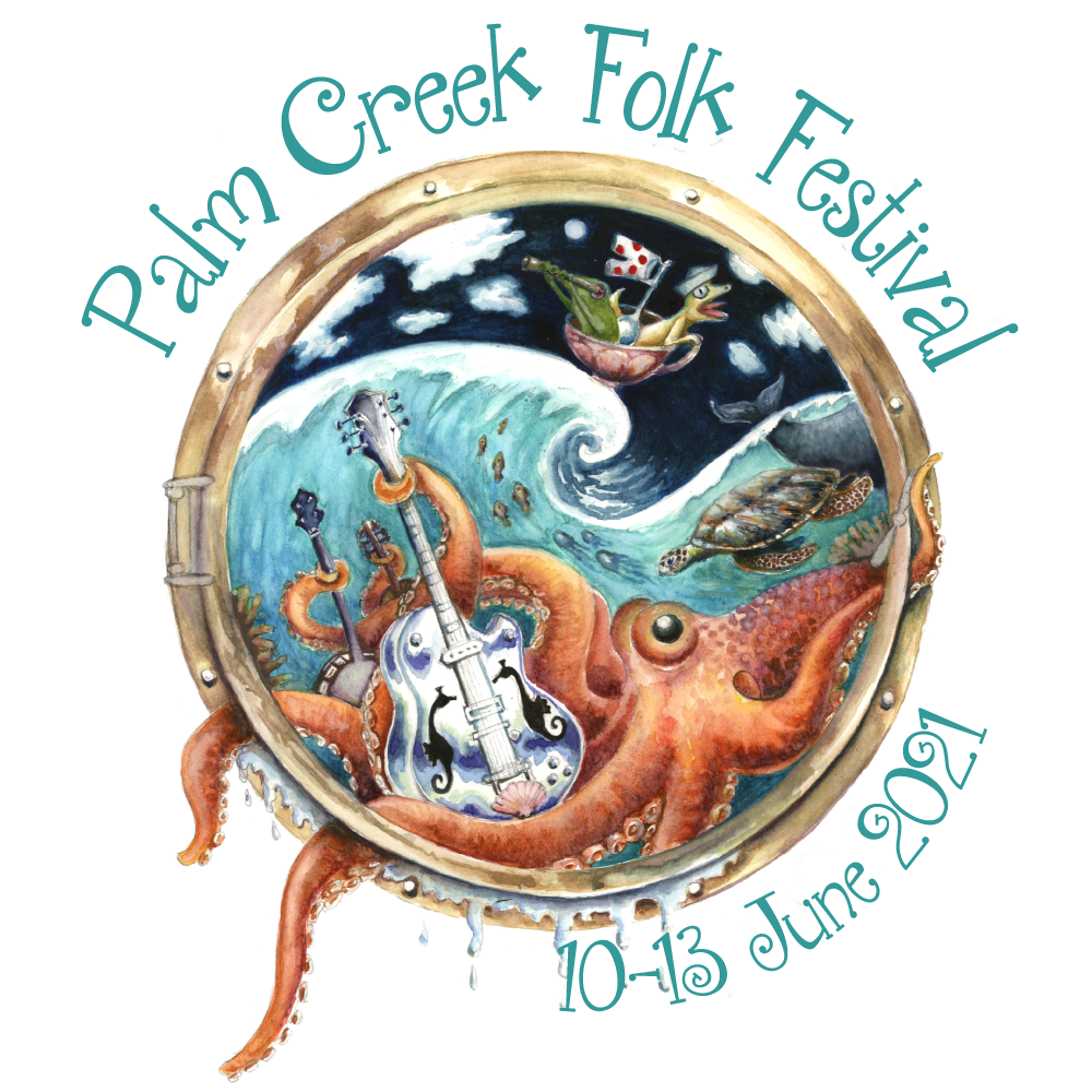 PALM CREEK FOLK FESTIVAL Logo